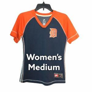 Nike Detroit Tigers M Shirt V-Neck Blue Orange